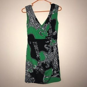 Green/Black Casual/Business Dress